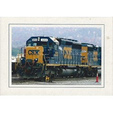 CSX Train Premium Note Card
