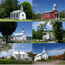 Country Churches Note Cards